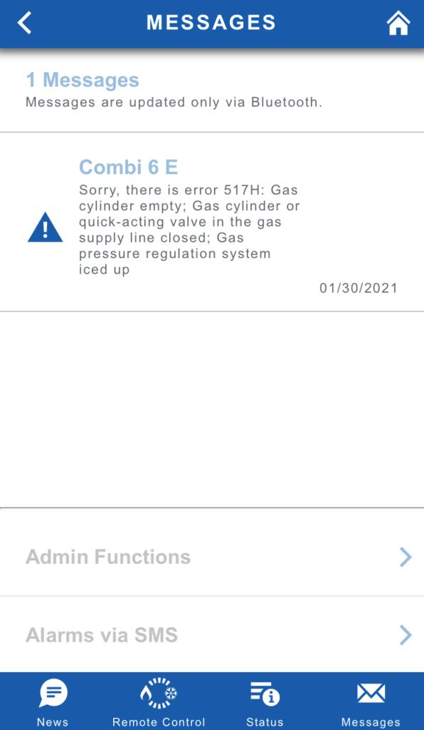 Truma app error